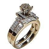 wuayi Damen-Ring, stapelbar, glänzender weißer Diamant, für Cocktail-Party, Verlobung, Hochzeit, Schmuck, Accessoires, Geschenk, Legierung, silber, 11#