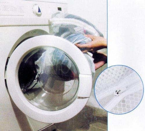 2x RETI DI SERVIZIO LAVANDERIA 30x40cm Chiusura zip Servizio lavanderia net Sacchi per biancheria Sacco biancheria Rete H