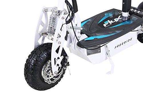 E-Scooter Roller Original E-Flux Freeride 1000 Watt 48 V mit Licht und Freilauf Elektroroller E-Roller in vielen Farben (weiß) - 4