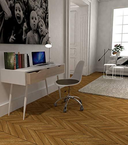 Beat Collection - Silla giratoria, metal, blanco/negro, 49 x 55 x 95 cm, con ruedas, altura ajustable