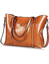 (Upgraded Version) Women Bag Casual Vintage Shoulder Bag Handbags Cross Body Bag Large Capacity Bags Brown (brown XL)