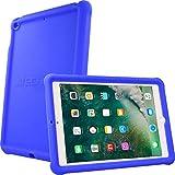 TECHGEAR® Ladekantenschutz für neues Apple iPad 9,7 Zoll 2018 / 2017 Soft Shell, sehr stoßfest mit Kantenschutz & verstärkten Ecken + Displayschutzfolie - Idealer Schutz für Kinder und Schulen. für 5. und 6. Generation iPad 9.7