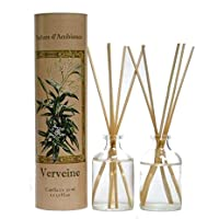 Provence et Nature: Verveine (Eisenkraut) Raumbedufter (Raumduft) mit Holzstäbchen, 2 x 50 ml Glasflaschen preisvergleich bei billige-tabletten.eu