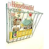 Revista Periódico de alambre cesta montado en la pared del anuncio de almacenamiento en rack estilo de la vendimia