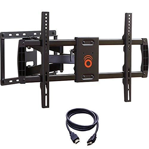 ECHOGEAR Voll Bewegliche TV Wandhalterung, Schwenkbar und Neigbar, für 37 - bis 70 -Zoll-TVs Für TV-Geräte bis zu 59 kg | max VESA 600 x 400 | Inklusiv Gratis HDMI Kabel