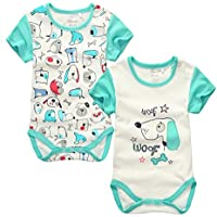 CuteOn Unisex Bambino Body Estate 2pcs Maniche corte Jumpsuit Abbigliamento bambino