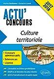 Lire le livre Culture Territoriale Actu'Concours 2017 gratuit