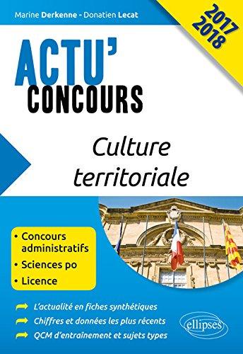 Culture Territoriale Actu'Concours 2017 2018
