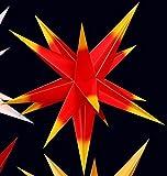 LED 3D Außenstern rot mit gelben Spitzen mit Farbverlauf - inklusive Aussenkabel wetterfest !