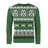 London Co. Star Wars Stormtrooper Green Unisex Christmas Knitted Jumper