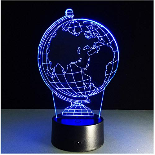 Nachtlicht NachttischLampee 3D Earth Globe Led 7 Color Change Flash Light Table Bedside Baby Sleep Night Lampe Novelty Child Kid Holiday Gift Classroom Decor