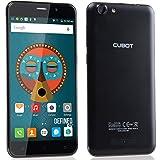 Cubot Note S Smartphone 5.5 Zoll HD Touch-Display mit 4150mAh, 2GB RAM/16GB ROM, Android 5.1, Dual SIM Karten, Quad-Core Prozessor, 1.3GHz, Dual-LED Kameras mit 178° Betrachtungswinkel, 5MP/8MP, kein Sim-Lock Handy für T-mobile, Vodafone, O2, E-Plus usw (Schwarz)