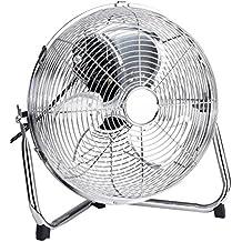 Excellent Electrics Bodenventilator ✓ Windmaschine ✓ Ventilator ✓ 50 Watt Leistung ✓ Durchmesser 30 cm ✓ 3 Geschwindigkeitsstufen ✓ Chrom-Design ✓ inkl. Tragegriff