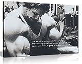 Kunstdruck mit Motivationszitat von Arnold Schwarzenegger - Wandkunst, Bild, A1 76x51 cm (30x20in)