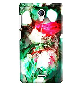 Blue Throat Blow Paint Printed Designer Back Cover/Case For Micromax Unite2 (A106)