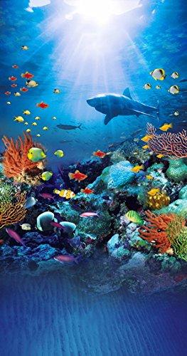 Vinyl-aquarium (hintergrund meer aquarium hintergrund blau computergedruckte Vinyl-Stoff fotografie hintergrund foto hintergrund kinder)