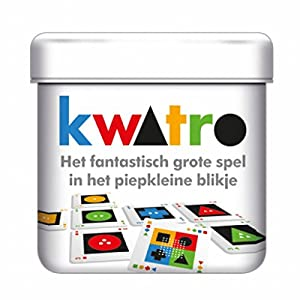 White Goblin Games Kwatro Puzzle Board Game Niños y Adultos - Juego de Tablero (Puzzle Board Game, Niños y Adultos, 30 min, 8 año(s), Holandés, Caja)