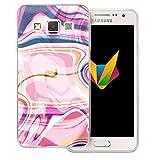 Mobilefox Liquid transparente Silikon TPU Schutzhülle 0,7mm dünne Handy Soft Case für Samsung Galaxy A3 (2014-2015) Liquid Pink - Verlauf Hülle Cover
