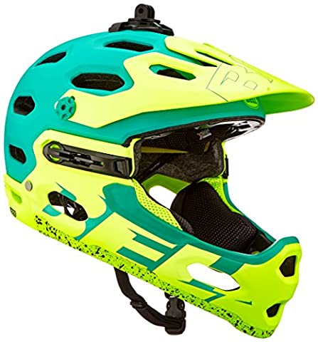Bell Erwachsene Super 3R Mips Fahrradhelm, Matte Emerald/Retina Sear, M