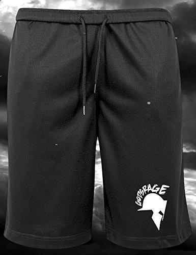 Mesh-muskel-shirt (GODSRAGE Mesh Shorts Training Trainingsbekleidung Hose Damen Herren Sport Bodybuilding (Mesh Shorts (L)))