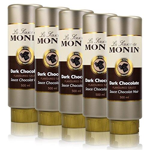 5x Monin Dunkle Schokolade Sauce 500 ml - DarkChocolate Flavoured Sauce