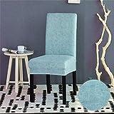 Color Sólido Plain Elasticas Fundas de Sillas para Comedor Salon Oficina Bouquet de la Boda, Morbuy Respaldo Alto y Lavables Protectoras para Sillas (1 Pieza,Agua Azul)