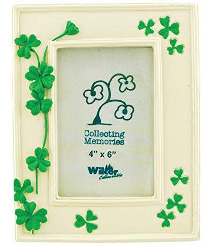 Kleeblatt grün Blätter Blume Collectible Bilderrahmen, 4x 6, ST PATRICK 'S IRISH, stehend Tisch Top (Floß Blume)