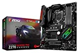 MSI Intel Z270 GAMING PRO CARBON 7th/6th Gen USB2 Motherboard - Black (Intel Core i3/i5/i7 Processor, LGA 1151, Dual Channel DDR4, USB 3.1, PCI-E 3.0, PCI-E x1, Sata 6 GB)