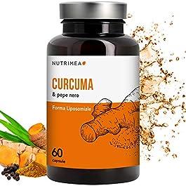 CURCUMA NUTRIMEA | Curcuma Piperina Plus Olio Extra Vergine Oliva Biologico | 95% Estratto Curcumina Piperina | 350 mg…