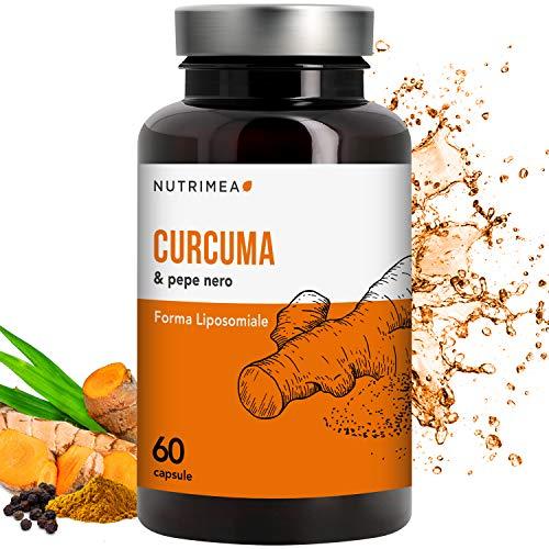 CURCUMA e PIPERINA 100% Naturale • 95% Curcumina 95% Piperina • 350 mg Curcuma al 95% di Curcumina e 7 mg Pepe nero a 95% di Piperina • Antiossidante e Antinfiammatorio • Registrato Ministero Salute