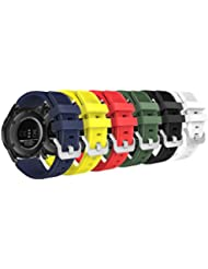 MoKo Kompatibel mit Samsung Gear S3 Frontier Armband - 6X Silikon Sportarmband, Multicolor A