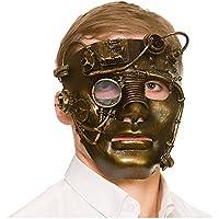 Adult Unisex Deluxe Robot Steampunk Mask Gold/Bronze Fancy Dress