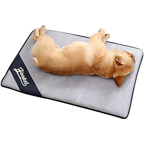 Fallen Lagerung Bett (BBEART Kühlung Pet Teppiche, Atmungsaktiv Selbst kühlend Pad Ultra Weiche Bequeme Decke Bett für Katzen Kleine Hunde Mittelgroße Hunde Große Hunde Pet Sommer Matten, XL-47