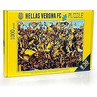 Hellas Verona FC HVR40, Puzzle Curva Unisex-Youth, Navy/Giallo, Taglia Unica