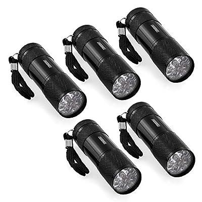 TOMOUNT 5x 9LED UV Leuchte Lampe Prüfgerät Flashlight Taschenlampe von emall supply bei Outdoor Shop