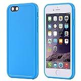 MobitechPro MOB485 Etui Housse Coque Etanche Antichocs Silicone pour iPhone 5S Bleu
