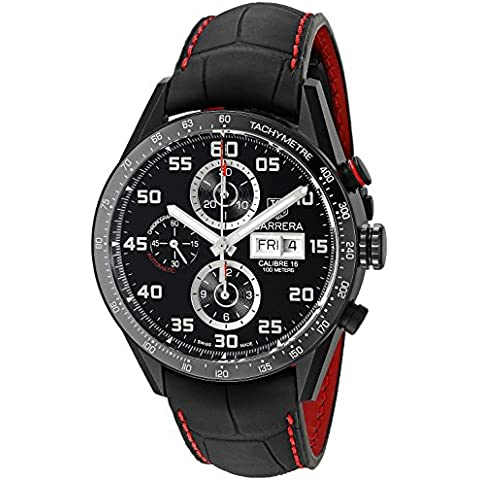 Tag Heuer Hombre cv2a81. FC6237Analog Display Swiss–Reloj automático negro