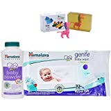Himalaya Herbals Baby Powder (50g)+Himalaya Herbals Gentle Baby Wipes (72 Sheets) With Happy Baby Luxurious Kids Soap With Toy (100gm)