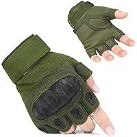 Guantes para hombre con sensores táctiles, buen ajuste, gran comodidad, ideal para trabajar o practicar deportes, marca Adogo, color Green Fingerless, tamaño XL