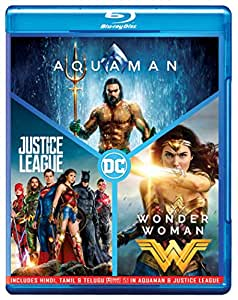 DC 3 Movies Collection: Aquaman + Wonder Woman + Justice League