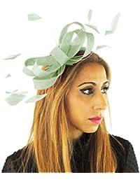 25b9e4cbb4502 Hats By Cressida Ladies Wedding Races Ascot Derby Fascinator Headband Mint  Green