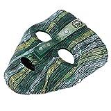Lesgos Résine Loki Dance Mask, Cosplay The Mask, Réplique Déguisée d'halloween pour Geek Déguisée avec Ceinture Ajustable
