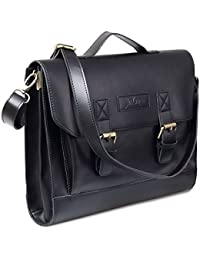 JAKAGO 12 13.3 13 Inch Vintage Women's Mens Leather Satchel Laptop Briefcase Messenger Shoulder Bag