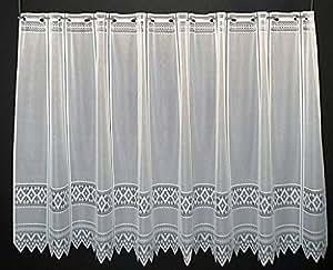 scheibengardine jacquard grafisch 120 cm hoch breite der gardine durch gekaufte menge in 13 cm. Black Bedroom Furniture Sets. Home Design Ideas