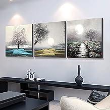 ZHFC-Salon Decoracion Pintura, estudio triple murales, la simplicidad moderna, tipo de