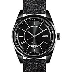 MEDOTA Grancey Men's Automatic Water Resistant Analog Quartz Watch - No. 2703 (Black/Black)
