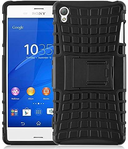 Coque Xperia Z3 Coque incassable   JammyLizard   [ ALLIGATOR ] Coque rigide back cover incassable anti choc coque pour Sony Xperia Z3, noir