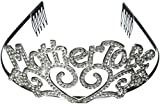 #5: Fun Express Metal Mother To Be Tiara Baby Shower Mom Gift Crown