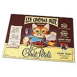 Bild: Napfunterlage Futtermatte Retro für Katzen Chat potele