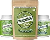 Maskelmän Protein-Päck, 1x Reisprotein 1000 g, 1x Erbsenprotein 1000g, 1x Hanfprotein 1000g
